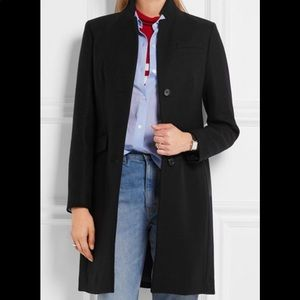 NWT jcrew wool 100% regent coat nwt black 00
